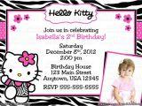 Hello Kitty 2nd Birthday Invitation Wording Hello Kitty Birthday Invitation Card