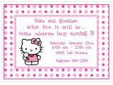 Hello Kitty 2nd Birthday Invitation Wording Hello Kitty Birthday Party Invitation 1st 2nd 3rd