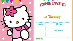 Hello Kitty Birthday Invitation Card Template Free Free Hello Kitty Invitation Templates Hello Kitty