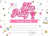 Hen Party Invitation Template Hen Party Invitation Template Illustration Download Free