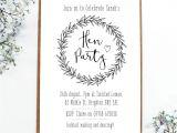 Hen Party Invitation Template Hen Party Invites Pp42 Advancedmassagebysara
