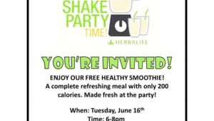 Herbalife Shake Party Invitation Template Herbalife Shake Party Invitation Herbalife