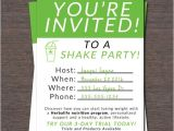 Herbalife Shake Party Invitation Template Shake Party Invite Instant Download by Wackyjacquisdesigns