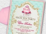 High Tea Party Invitation Ideas 17 Best Ideas About High Tea Invitations On Pinterest