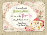 High Tea Party Invitation Ideas Cute Vintage Tea Party Invitation Digital Template