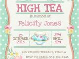 High Tea Party Invitation Ideas High Tea Invitation Printable for Bridal Shower Tea or