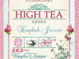 High Tea Party Invitation Ideas High Tea Invitation Tea Party Bridal Shower Brunch Lunch