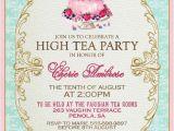 High Tea Party Invitation Ideas High Tea Invitation Template Invitation Templates J9tztmxz
