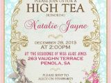 High Tea Party Invitation Ideas Marie Antoinette High Tea Invitation French Tea Party for