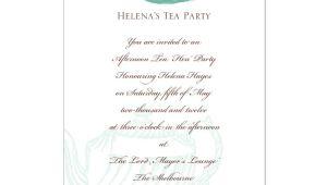 High Tea Party Invitation Wording afternoon Tea Invitation Template orderecigsjuice Info