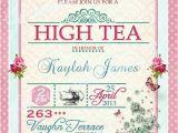 High Tea Party Invitation Wording High Tea Invitation Tea Party Bridal Shower Brunch Lunch