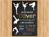 Hip Hop Dance Birthday Party Invitations Hip Hop Birthday Invitation Chalkboard Birthday Party