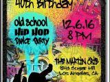 Hip Hop Party Invitations Free 90s Hip Hop Graffiti Birthday Invitations Di 464