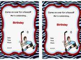 Hockey Birthday Party Invitations Templates Free Hockey Birthday Invitations – Birthday Printable
