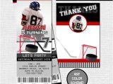 Hockey Birthday Party Invitations Templates Free Hockey Ticket Invitations Free Thank You Card Birthday Party
