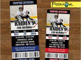 Hockey Birthday Party Invitations Templates Free Printable Boys Hockey Invitation Ticket Boys Hockey Birthday