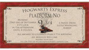 Hogwarts Birthday Invitation Template Hogwarts Harry Potter Birthday Invitation Printable