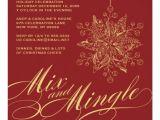 Holiday Party E Invitations Elegant Mix & Mingle Holiday Party Invitation