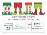 Holiday Party E Invitations Elfin Holiday Party Invitation