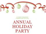 Holiday Party Invitation Examples Annual Holiday Party Invitation with Christmas theme
