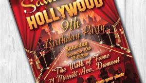 Hollywood Party Invites Printable Hollywood Party Invitations Hollywood Invitation Hollywood