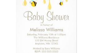 "Honey Bee Baby Shower Invites Bumble Bee Honey Baby Shower Invitations 5"" X 7"