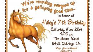 Horse Birthday Invitation Template Personalized Birthday Invitations Horse by Littlebeaneboutique