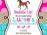 Horse themed Party Invitations Horse Birthday Party Invitations Printable or Digital File