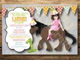 Horse themed Party Invitations Horse themed Birthday Party Invitations Oxsvitation Com
