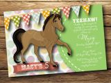 Horse themed Party Invitations Party Invitation Templates Horse Party Invitations