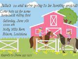 Horseback Riding Birthday Party Invitations Horse Riding Birthday Party Invitation