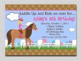 Horseback Riding Birthday Party Invitations Horseback Riding Birthday Invitation Western Horse Birthday