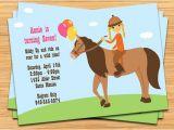 Horseback Riding Birthday Party Invitations Horseback Riding Birthday Party Invitation by