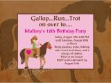 Horseback Riding Birthday Party Invitations Horseback Riding Birthday Party Invitations Printable or