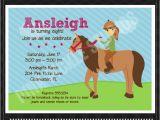 Horseback Riding Birthday Party Invitations Horseback Riding Printable Birthday Invitation