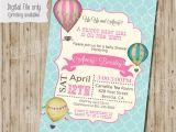 Hot Air Balloon themed Baby Shower Invitations Baby Shower Invitation Hot Air Balloon Baby Shower Invitation