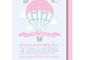 Hot Air Balloon themed Baby Shower Invitations Hot Air Balloon Baby Shower Invitations by Delightpaperie