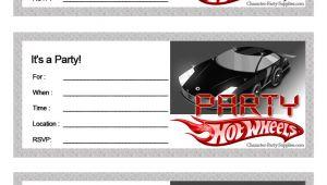 Hot Wheels Party Invitations Printable Free Printable Hot Wheels Birthday Party Invites