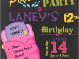Hotel Party Invitation Template Girl 39 S Pizza Pajama Pool Swim Party Slumber Sleepover