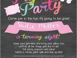 Hotel Party Invitation Template Pajamas Birthday Invitation Slumber Party Invitation
