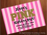 Hotel Party Invitation Template Teen Birthday Party Invitation Pink Secret by