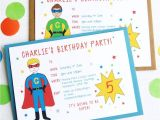 How to Do Party Invitations Superhero Personalised Birthday Party Invitations by