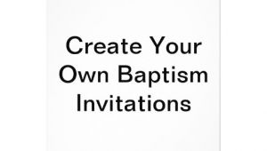 """How to Make Baptismal Invitation Create Your Own Baptism Invitations 5"""" X 7"""" Invitation"""