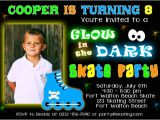 How to Make Glow In the Dark Party Invitations Glow In the Dark Birthday Invitations