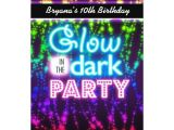 How to Make Glow In the Dark Party Invitations Glow In the Dark Neon Party Invitations Rainbow Zazzle Com