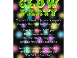 How to Make Glow In the Dark Party Invitations Neon Glow In the Dark Birthday Party 5×7 Paper Invitation