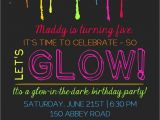 How to Make Glow In the Dark Party Invitations Printable Glow In the Dark theme Party Invitation