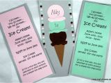 How to Make Homemade Birthday Party Invitations Homemade Ice Cream Birthday Invitations