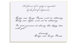How to Respond to Bridal Shower Invitation How to Respond to A Wedding Invitation How to Respond to A