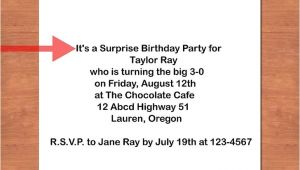 How to Write A Surprise Birthday Party Invitation How to Write A Birthday Invitation 14 Steps with Pictures